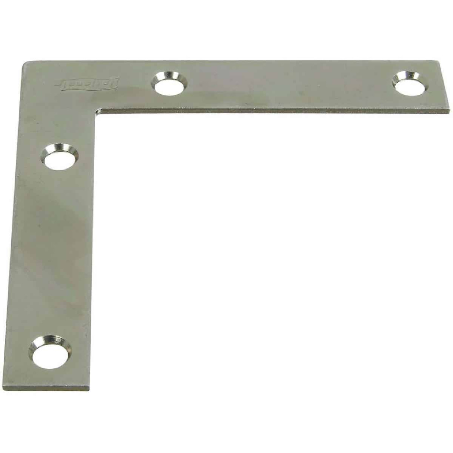 National Catalog 117 3-1/2 In. x 5/8 In. Zinc Flat Corner Iron Image 1