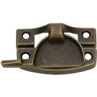 National Antique Brass Finished Die-Cast Zinc Crescent Sash Lock Image 1