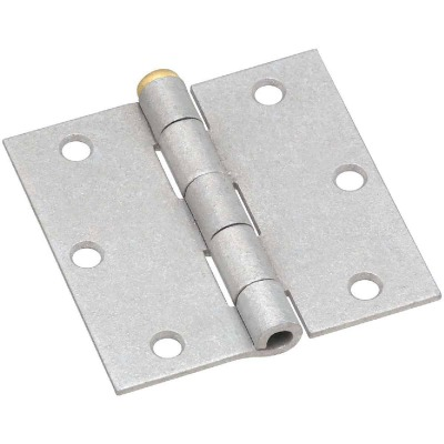 National 3-1/2 In. Square Galvanized Steel Broad Door Hinge (2-Pack)