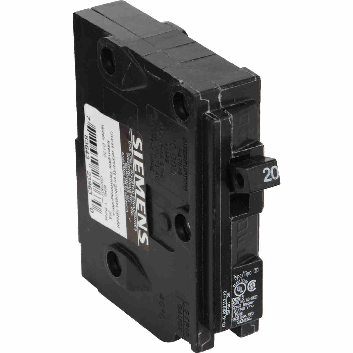 Connecticut Electric 20A Single-Pole Standard Trip Packaged Replacement Circuit Breaker For Square D Image 3