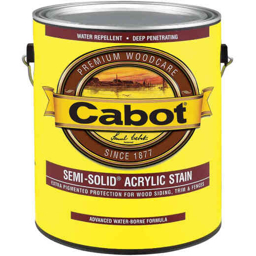 Cabot Semi-Solid Exterior Stain, Deep Base, 1 Gal.