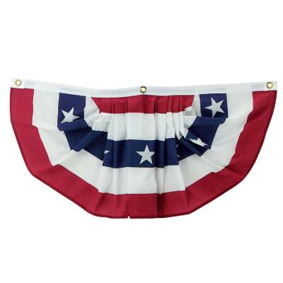 Valley Forge 1 Ft. W. x 3 Ft. L. Polycotton Fan Flag Bunting